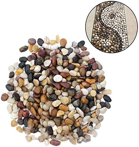 ICDOT Kiesel Polierte Kies, polierte Natur Mischfarbe Steine, Außen Cobblestone Garten Pflaster Kleine Zierkies River Rock Steine für Aquarien, Landschaftsbau, Vase Füllstoffe (Farbe : -, Size : -)