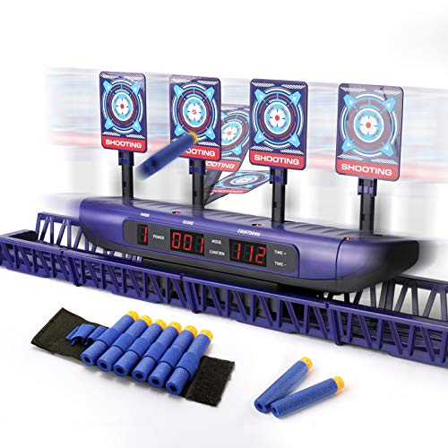 SNAEN Running Shooting Targets, Electronic Auto Reset Digital Scoring Targets Outdoor Games Interactive Sports Toys for Kids Boys Girls