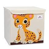 Meshela Aufbewahrungsbox und Organisator für Kinderspielzeug,Cartoon Aufbewahrungswürfel Leinwand faltbare Spielzeug Aufbewahrungsbox(Tiger)