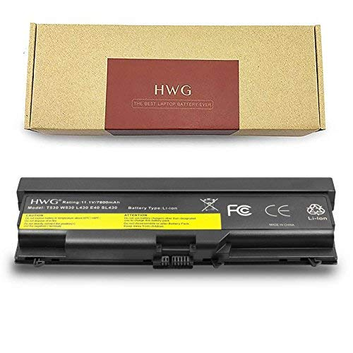 HWG T530 High Capacity Battery (11.1V 87Wh) for Lenovo T430 T430I T530 T530I W530 SL430 SL530 L430 45N1007 45N1006 0a36303