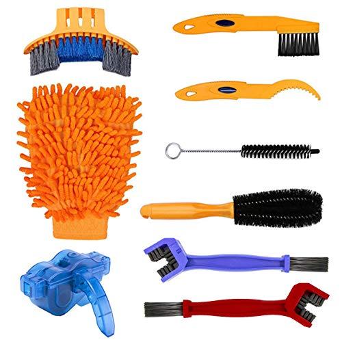9PCS Kit de Cepillo de Limpieza de Bicicletas, Herramientas de Limpieza para...
