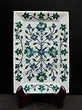 Bandeja decorativa de mármol blanco de 9 x 15 cm, para decoración del hogar, regalo