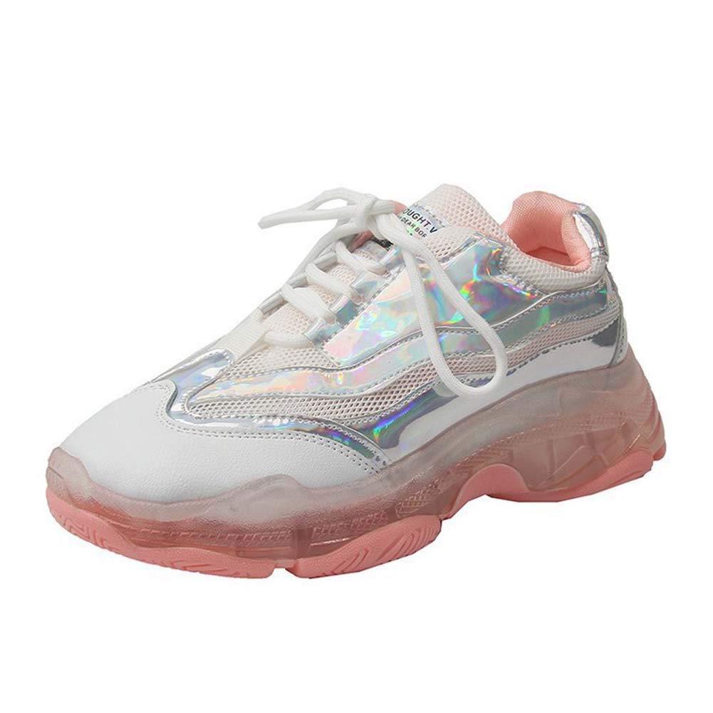 SHOES-HY Zapatillas de Tenis Air Running para Mujer Zapatillas de Deporte Cruzadas Ligeras Entrenamiento Deporte Gimnasio Zapatillas Deportivas,Rosado,35: Amazon.es: Jardín