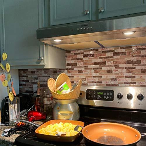 Peel and Stick Tile Backsplash for Kitchen, Marble Design (10 Sheets)