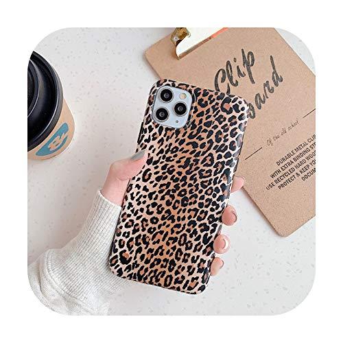 Custodia per telefono con stampa leopardata per iPhone Se 2020 Se2 Coque per Iphone 8 Plus 7 6 6S X Xr Xs 11 Pro Max Cover posteriore protettiva 1-Per Iphone 11Pro Max