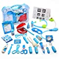 CUTE STONE Toy Medical Kit, Kids Pretend Play Dentist Doctor Kit with Electronic Stethoscope Toy and Carrying Case, Role Play Educational Toy Doctor Playset for Toddler Boys and Girls by Cute Stone