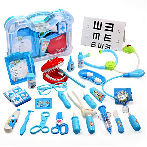 CUTE STONE Toy Medical Kit, 30PCS Kids Pretend Play Dentist...