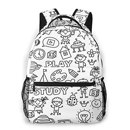 Rucksack Männer Und Damen, Laptop Rucksäcke für 14 Zoll Notebook, Kindergartenhaus Kinderrucksack Schulrucksack Daypack für Herren Frauen