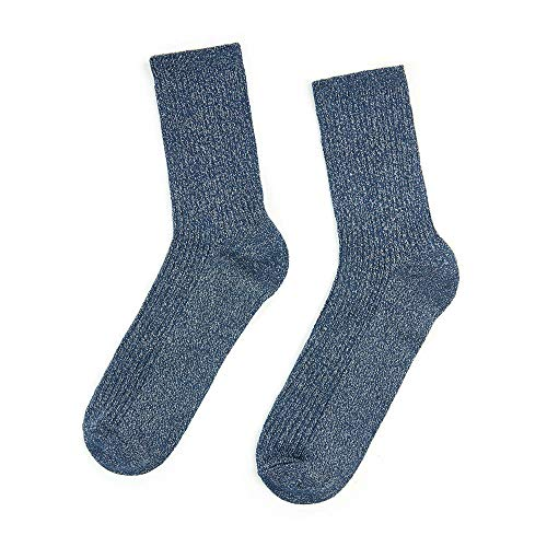 YAMAMAY® Calze donna a coste lunghezza media - Trendy socks