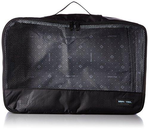 [ハピタス] オーガナイザー Lサイズ パッキングバッグ 中身がわかるメッシュ生地 豊富な柄 28 cm 0.18kg 128チェッカーブラック