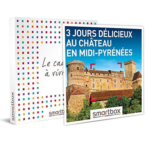 Smartbox - Coffret Cadeau Femme Homme - 3 Jours délicieux au château en Midi-Pyrénées - idée Cadeau - 2 Nuits avec Petits-déjeuners, 1 ou 2 dîners et Champagne ou Cocktail pour 2 Personnes