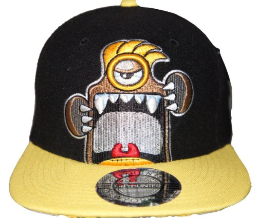 City Hunter - Casquette de Baseball - Homme Noir Black Yellow