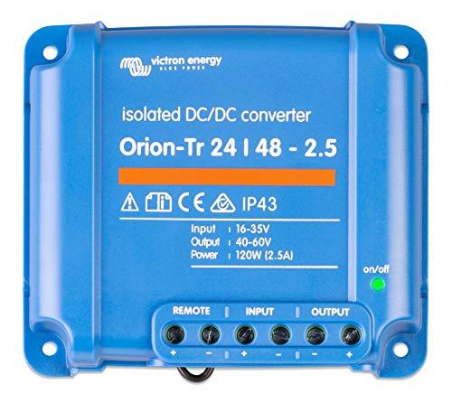 Victron Energy ORI244810110 Orion-TR 24/48-2,5A Isolated DC Convertidor, De 24 a 48 V-2,5A (120W)