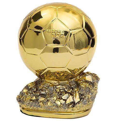 Trofeos Fútbol Balón de Oro, MVP Hollow Soccer Fans Craft Souvenir Decoración para el hogar del Mejor Jugador del Mundo, 16 cm, 21 cm, 26 cm
