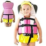 Chaleco de natación, flotador de natación para bebé, con correa de seguridad para niñas de...