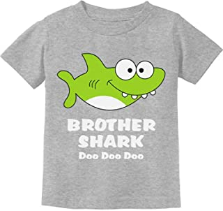 Tstars - Brother Shark Doo Doo Gift for Big Brother Toddler Kids T-Shirt