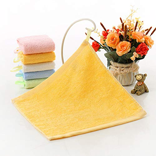 5 piezas, toalla de fibra de bambú, 25 x 25 cm, toalla