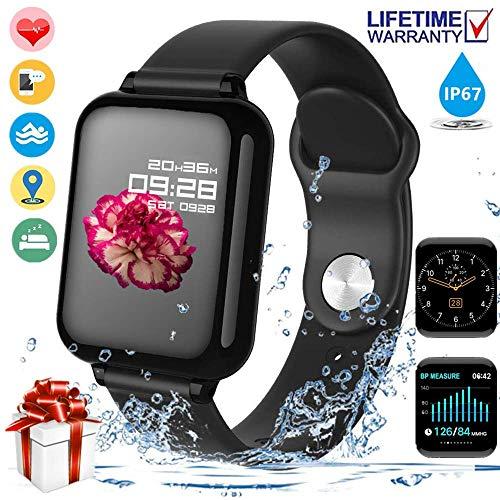 【2020 Nuevo】Pulsera Deportiva Bluetooth,Reloj Inteligente,Reloj Deportivo para Android y iOS Móvil,…