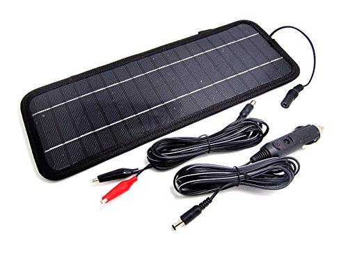 NUZAMAS Poartable 4.5W Panel Solar Cargador Coche batería 12V Recarga al Aire Libre Camping Viaje Potencia Fuente de alimentación