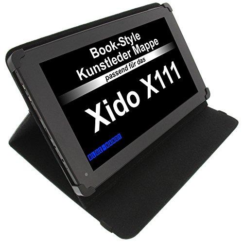 foto-kontor Tasche für Xido Z110 3G X111 Z90 BookStyle Tablettasche Schutz Hülle Schwarz