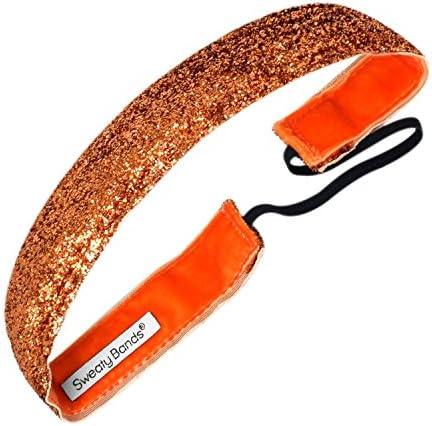 Sweaty Bands 001 10 0049 21 Viva Diva 1 inch Velvet Lined Fitness and Fashion Headband Orange product image