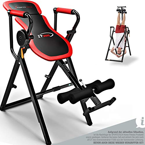 Sportstech 6in1 Inversionsbank für Fitness & Sport Zuhause | Bauchtrainer & Rückentrainer + Klimmzugstange | Heimtrainer klappbar max 150 kg | Smart Trainer für Ihr Homeworkout-Equipment |IT300