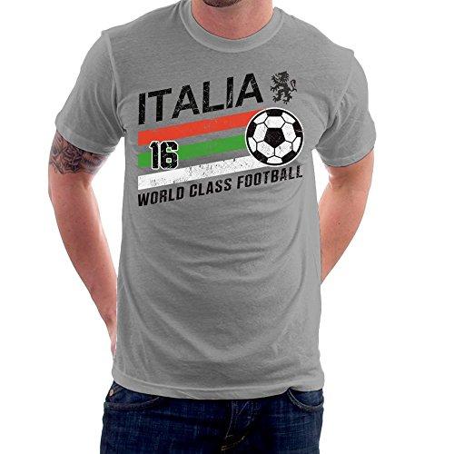 Euro 2016 Football Italy Italia Ball Grey Men's T-Shirt