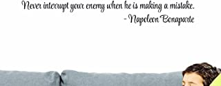 Design with Vinyl US V SOS 521 3 Top Selling Decals Never Interrupt Your Enemy When He Is Making A Mistake. -Napoleon Bona...