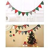 Zueyen 3 banderines de Navidad triángulo banderines banderines guirnalda para fiestas de Año Nuevo, decoración de muñeco de nieve, papel de Navidad, chimenea, puerta, ventana, día festivo