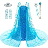 Luxury Shining Costume,Weight 1 lb,Use enough materials and made well,Length to floor ,please check the size before ordering. Include Dress+Crown+Wand+Wig+Gloves This dress made of soft and comfortable fabric, 2 layers dress and inner cotton.Length t...