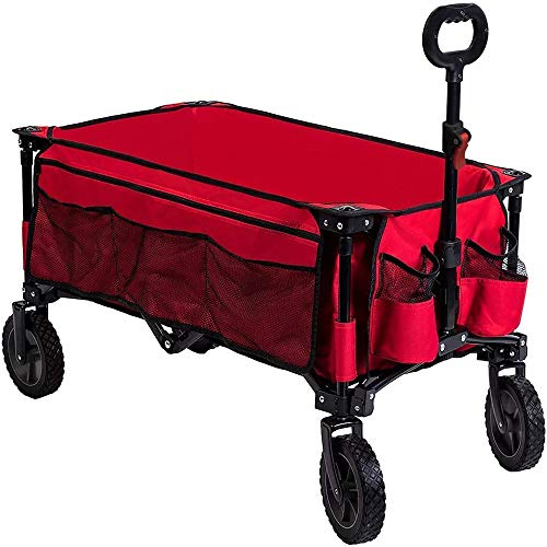 Timber Ridge Camping Wagon Folding Garden Cart Shopping Wagon Heavy Duty...