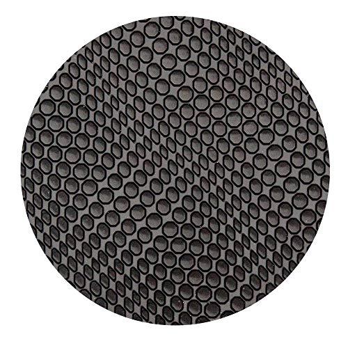 Sohlengummiplatte 250mm x 600mm 4mm stark Croco Profil in verschiedenen Farben zur Anfertigung von Schuhsohlen, Huarache Sandalen oder als Anti Rutsch Belag (schwarz)