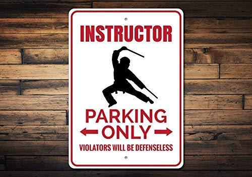 qidushop Parkplakette für Lehrer, Karate, Karate, Geschenk, Karate, Karate, Geschenk, Karate, Blechschild für Zuhause, Wandkunst, Dekoration für Damen und Herren