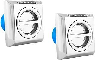 2 Dispositivos de Aspiração Inox Quadrado Encaixe 50mm Para Piscina Mont Serrat