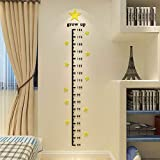 Baby Height Growth Ruler, Children's Room Decoration, 3D Wind Body Height Ruler, Nursery Star Wall Decal (Star)