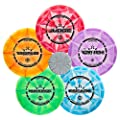 Dynamic Discs Five Disc Prime Burst Disc Golf Starter Set | Trespass Distance Driver | Maverick Fairway Driver | Escape Fairway Driver | EMAC Truth Midrange | Judge Disc Golf Putter | Frisbee Golf Set