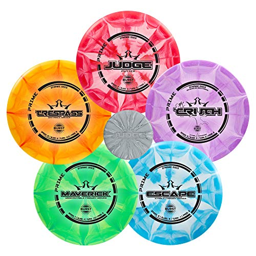 Dynamic Discs Five Disc Prime Burst Disc Golf Starter Set | Beginners Frisbee...