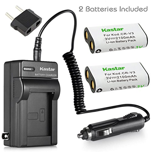 Kastar Battery 2-Pack and Charger for Canon PowerShot A60,70,75,300, Nikon Coolpix 600,700,800,950,990,2100,2200,3100,3200, Olympus, Pentax,Kodak, Sanyo, Digibino, Casion, Samsung Dig Max