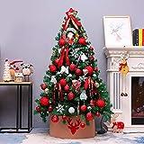 Topashe Albero di Natale Artificiale Innevate e Pigne,Set Albero di Natale, Decorazioni Natalizie-C_1,8 Metri,Punte Innevate e Pigne Effetto Realistico