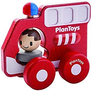 Plan Toys 消防車 ミニカー PlanToys製