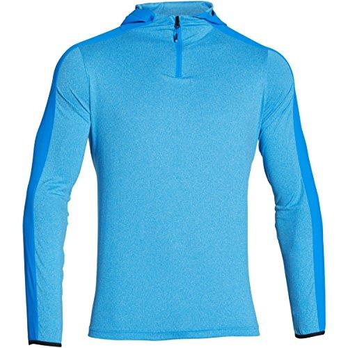 Under Armour CP LW Hooded 1/4 Zip Sweatshirt, Homme, Homme, Bleu électrique, M