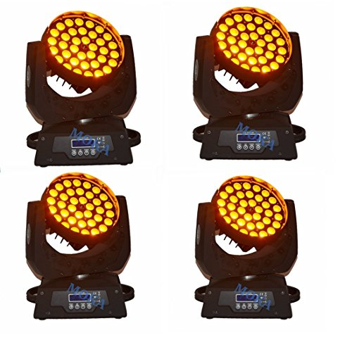 MOKA SFX 6pcs Moving Head Lights 36X10W for DJ Disco Stage Party (6pcs moving head lights)