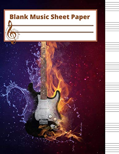 blank sheet music paper: perfect blank music sheets for guitar students,cute Gift for kids,girls,women,men,musicians,beginner player,110 pages 8.5x11 inches.
