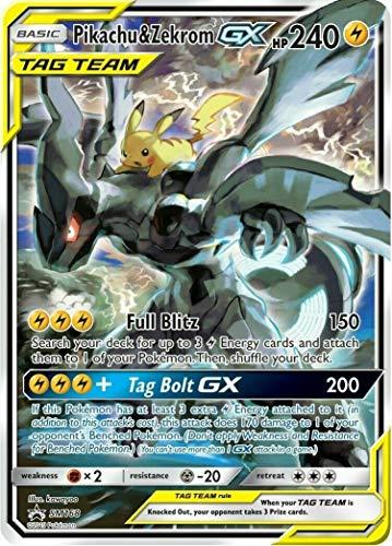 Pokemon TCG Pikachu & Zekrom GX SM168 Sun & Moon Black Star Promo NM/M