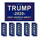 Carrfan Bandiera del Presidente Donald Trump e Adesivi per paraurti Adesivi per Auto 11 Pe...