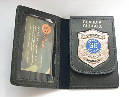 PORTAFOGLIO-PORTADOCUMENTI CON PLACCA GUARDIA GIURATA
