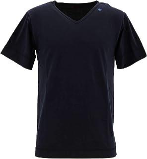 [SWEEP!! LosAngeles スウィープ ロサンゼルス] メンズ コットン ポリエステル 半袖 VネックTシャツ 50/50V-NECK SWTCVNK-04 NAVY(ネイビー)