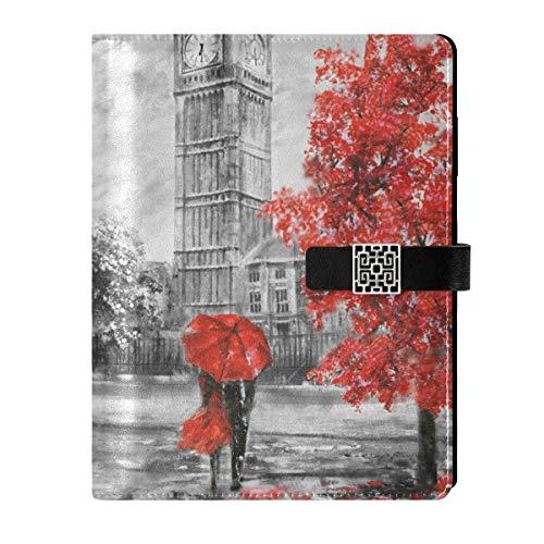 Cuaderno de cuero para escribir diario, cuaderno de viaje, calle, Londres, Big Ben Arce, rellenable, tamaño A5, cuaderno de tapa dura, regalo para mujeres y hombres