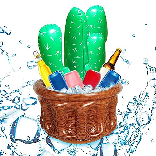 WSTERAO Enfriador de Bebidas Inflable, Enfriador de Cerveza, Enfriador para Fiestas de Cerveza, Cubos de Hielo, Suministros para Fiestas, Enfriador Inflable para Fiestas para la Fiesta de natación