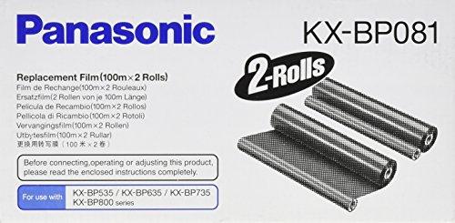 Panasonic KX-BP081 cinta para impresora - Cinta de impresoras matriciales (Panasonic KX-BP735, Transferencia térmica, 2 x 100 m)
